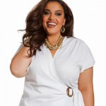 фото белые блузки для полных женщин