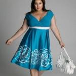 фото летнее платье для полных