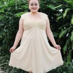 фото платье из шифона для полных женщин
